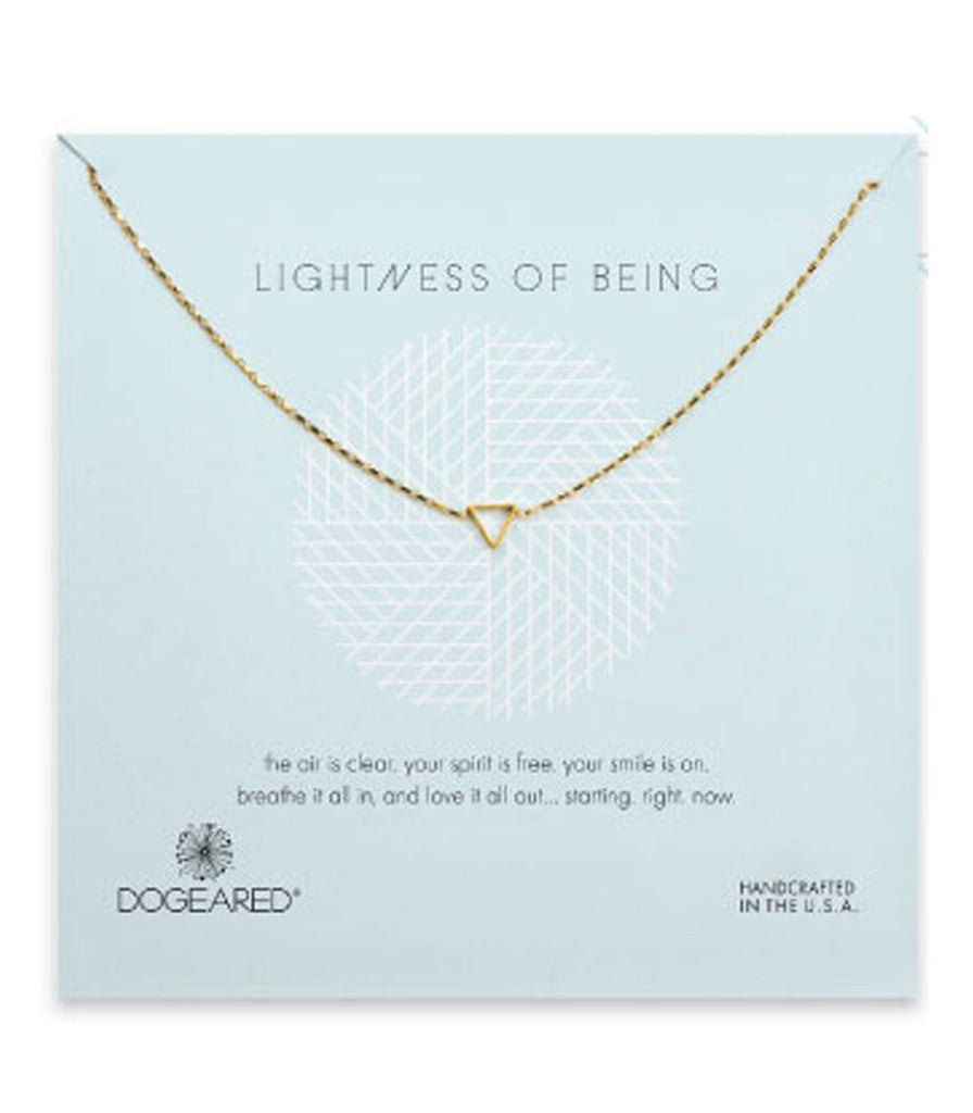 Dogeared Lightness of Being Teeny Air Triangle Soldered Necklace -  Sterling Silver & Gold Dipped 16 inch