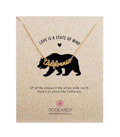 Dogeared Love is a State of Mind California Script Necklace -  Sterling Silver & Gold Dipped 18 inch