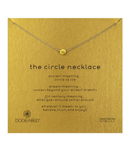 Dogeared, The Circle Necklace, Gold Dipped 16 inch