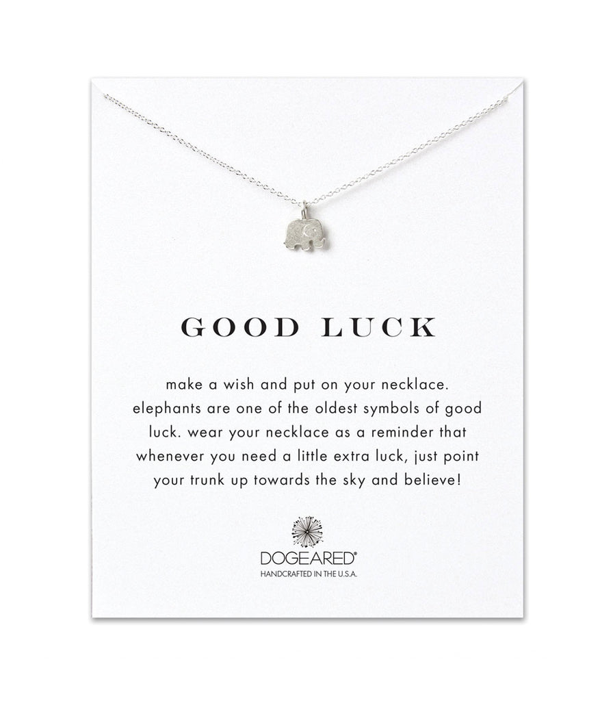 Dogeared, Good Luck Elephant Necklace, Sterling Silver 16 inch
