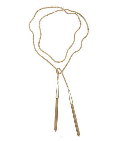 Kendra Scott Phara Long Gold Tassel Necklace