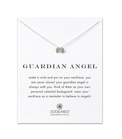 Dogeared Guardian Angel, Angel Wings Necklace, Sterling Silver 16 inch
