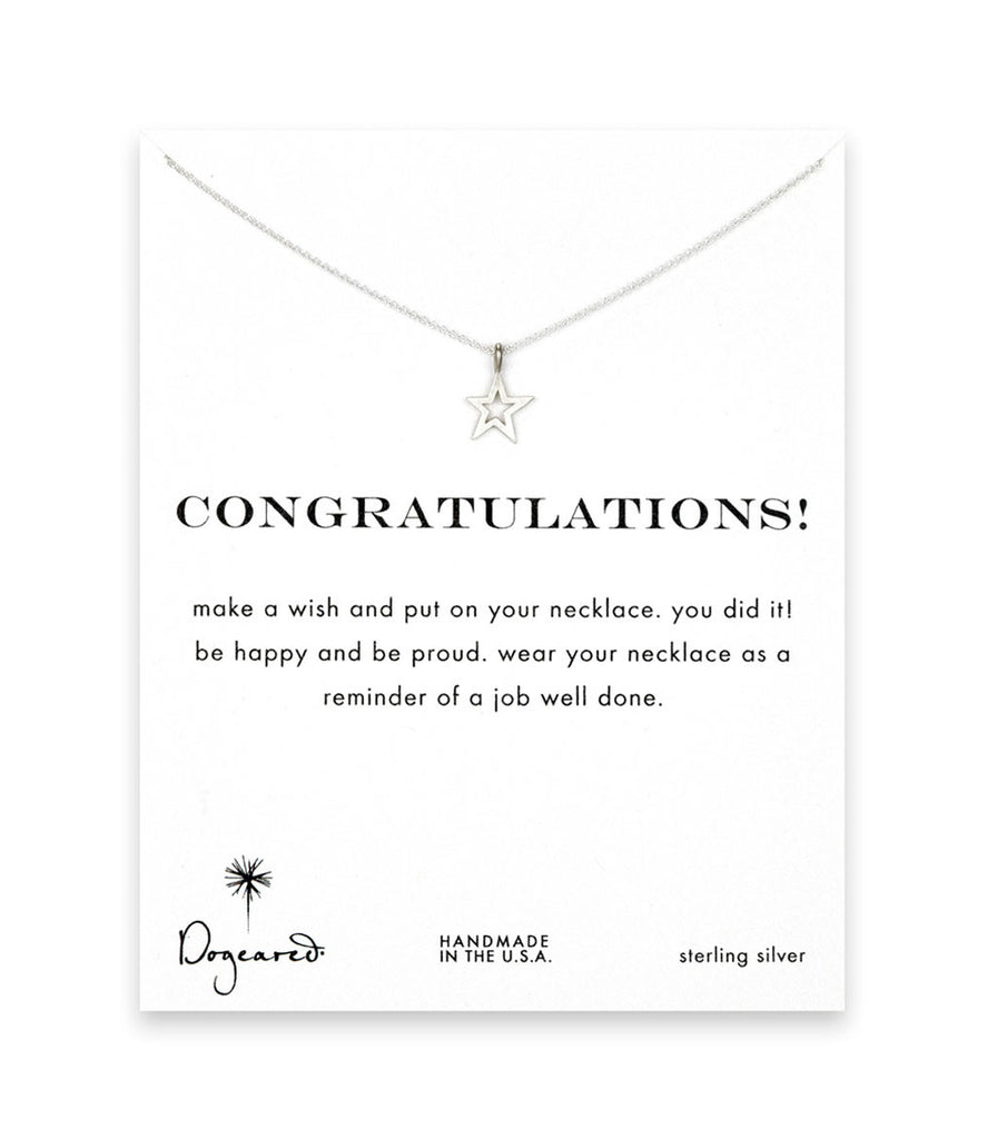 Dogeared Congratulations Celestial Star Necklace, Sterling Silver 16 inch