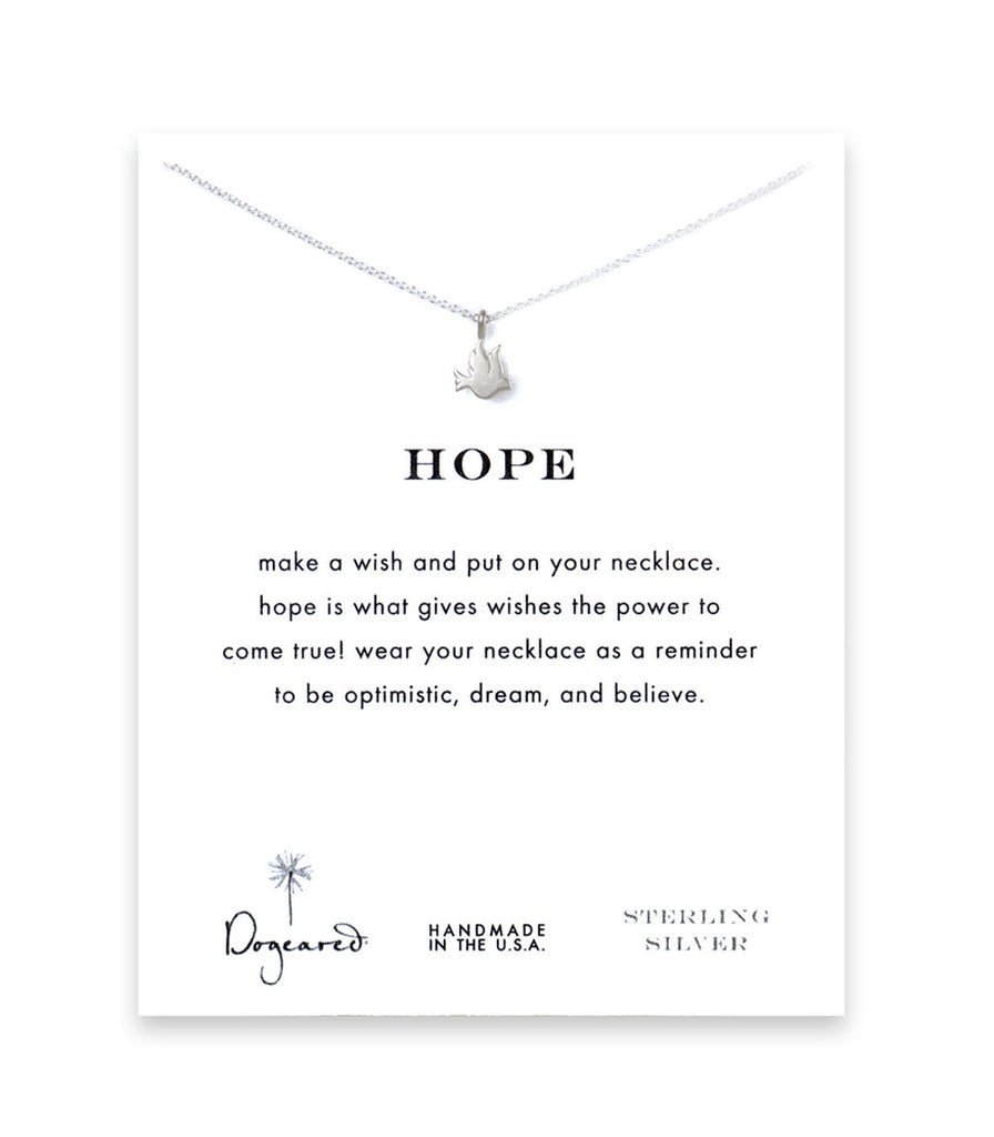 Dogeared Hope Dove Necklace, Sterling Silver 16 inch