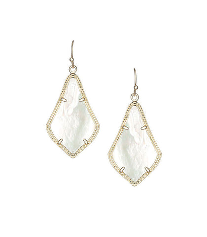 Kendra Scott Alex Ivory Pearl Earrings 14K Gold Plated