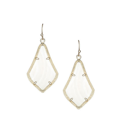 Kendra Scott Alex White Pearl Earrings 14K Gold Plated