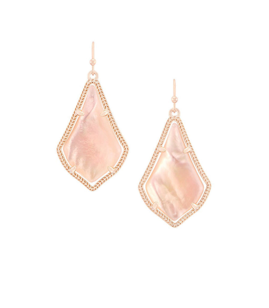 Kendra Scott Alex Peach Illusion Earrings Rose Gold Plated