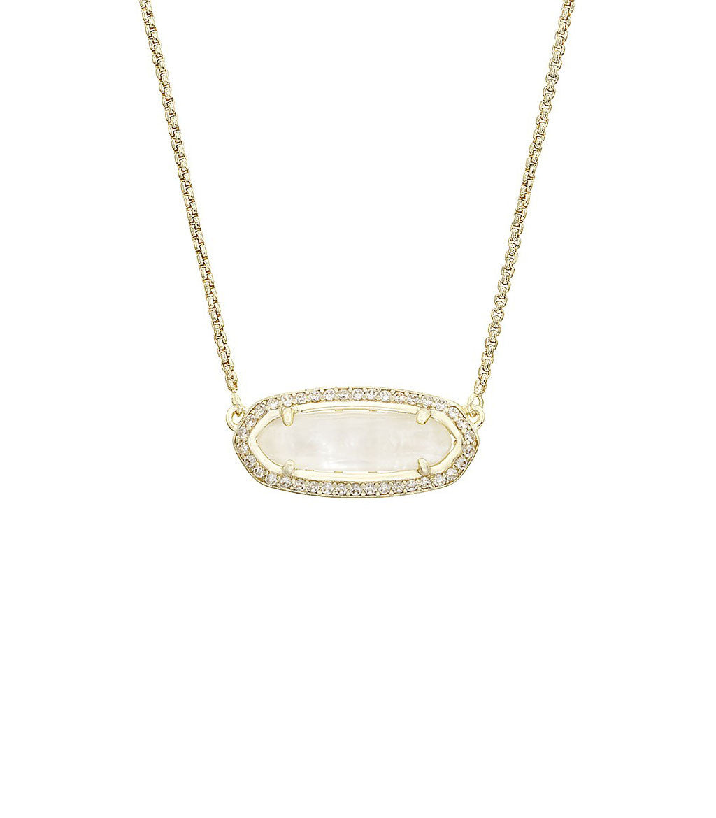 Kendra Scott Annika Ivory Mother of Pearl Pendant Necklace in 14K ...
