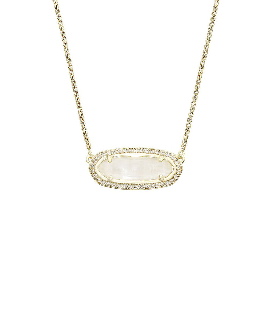 Kendra Scott Annika Ivory Mother of Pearl Pendant Necklace in 14K Gold Plated