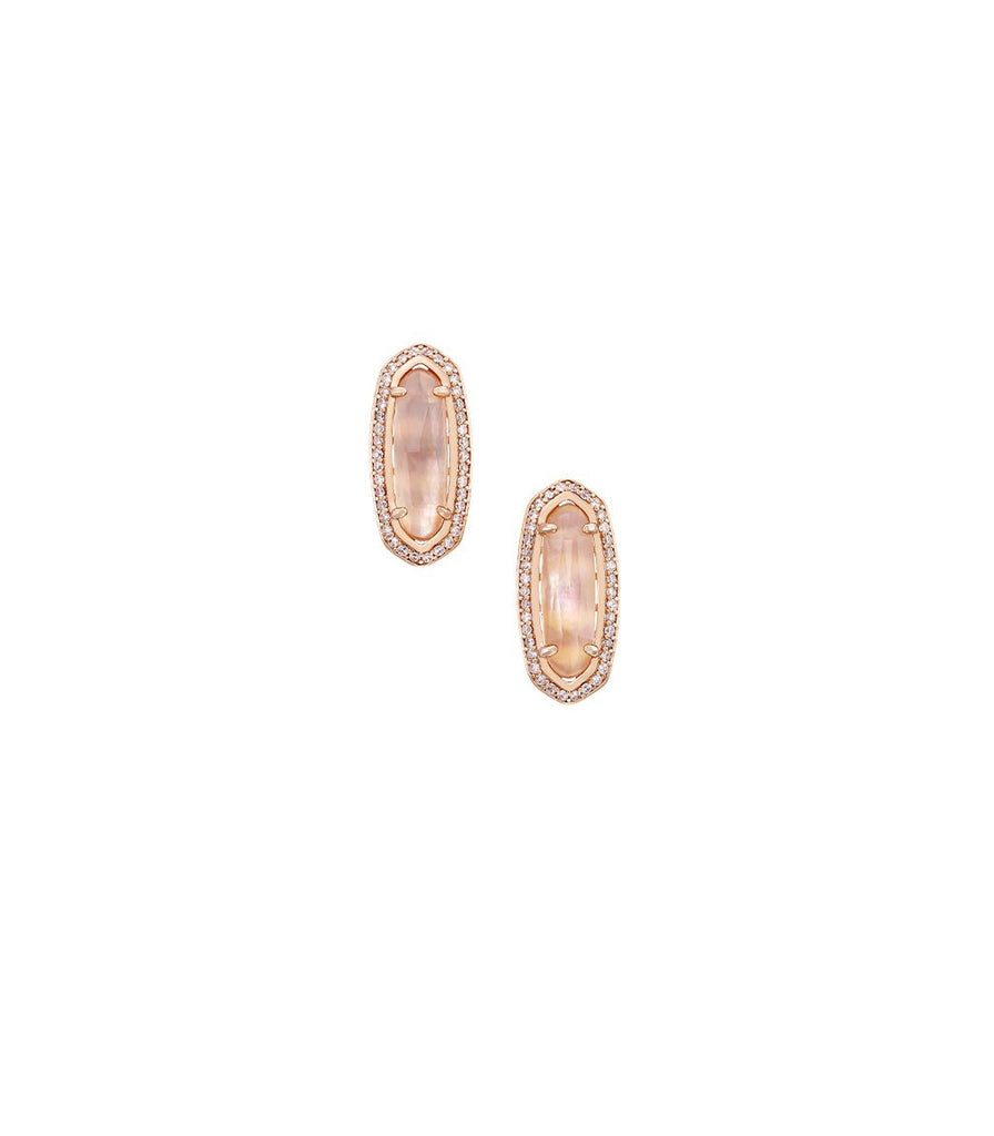 Kendra Scott Aston Peach Illusion Earrings in Rose Gold Plated