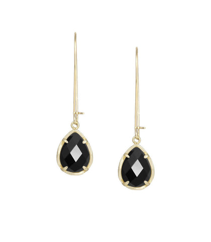 Kendra Scott Dee Black Opaque Glass Earrings 14K Gold Plated