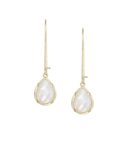 Kendra Scott Dee Ivory Pearl Earrings 14K Gold Plated