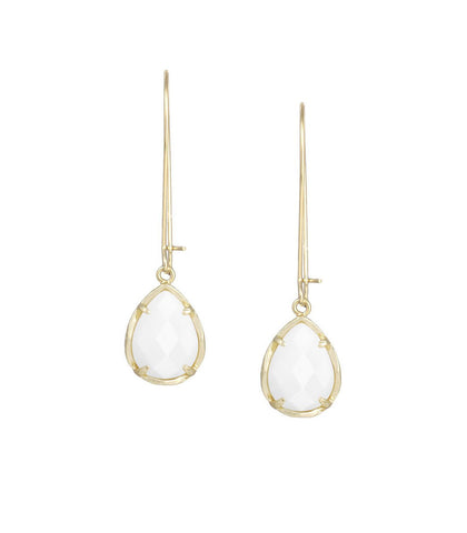 Kendra Scott Dee White Pearl Earrings 14K Gold Plated