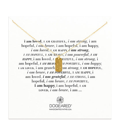 Dogeared I Am Hopeful Necklace, Gold Dipped 18 inch