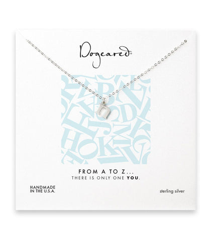 Dogeared From A to Z Initial N Necklace, Sterling Silver 18 inch