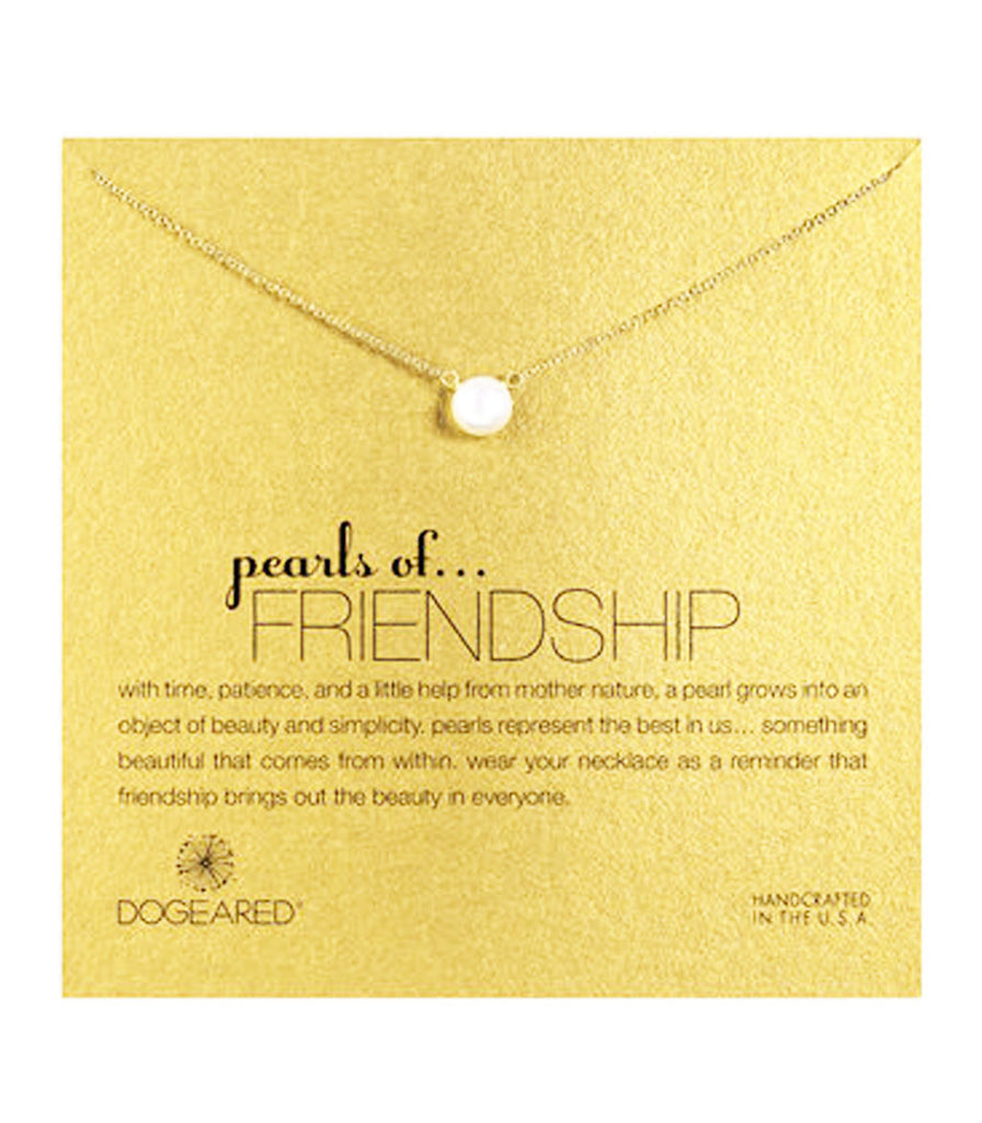 Dogeared, Pearls of Friendship White Pearl Necklace, Gold Dipped - 16 inch