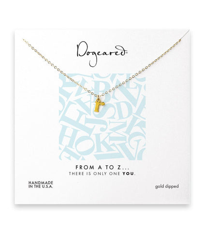 Dogeared From A to Z Initial R Necklace,Gold Dipped 18 inch