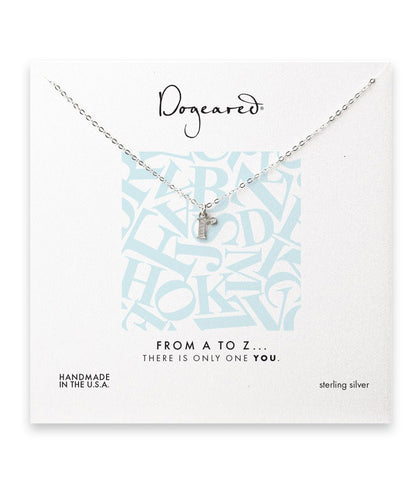 Dogeared From A to Z Initial R Necklace, Sterling Silver 18 inch