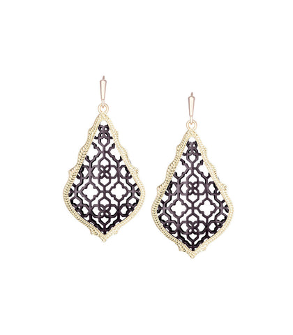 Kendra Scott Addie Earrings In Gunmetal