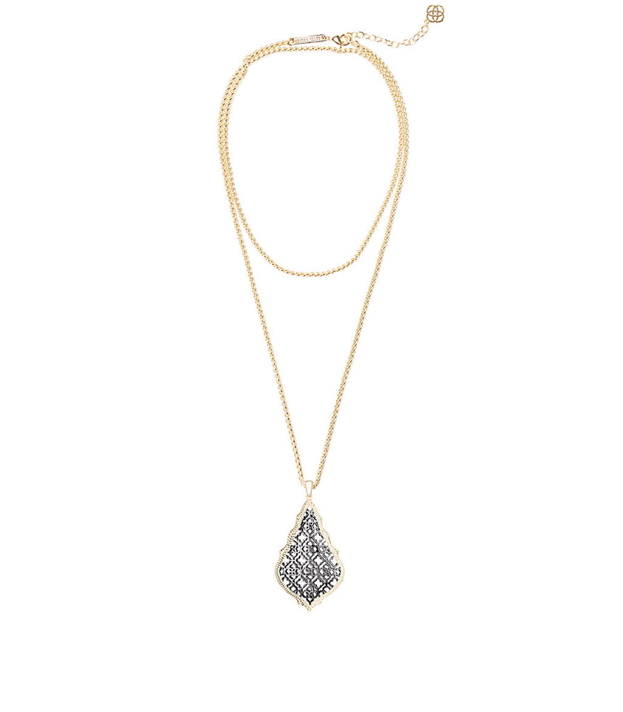 Kendra Scott Aiden Necklace In Gunmetal