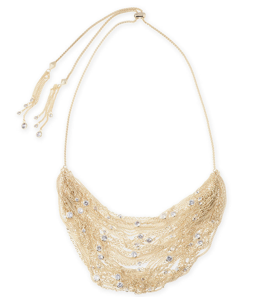 Kendra Scott Anastasia Statement Necklace In Gold