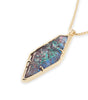Kendra Scott Beatrice Long Necklace In Navy Crackle Illusion 14K Gold Plated