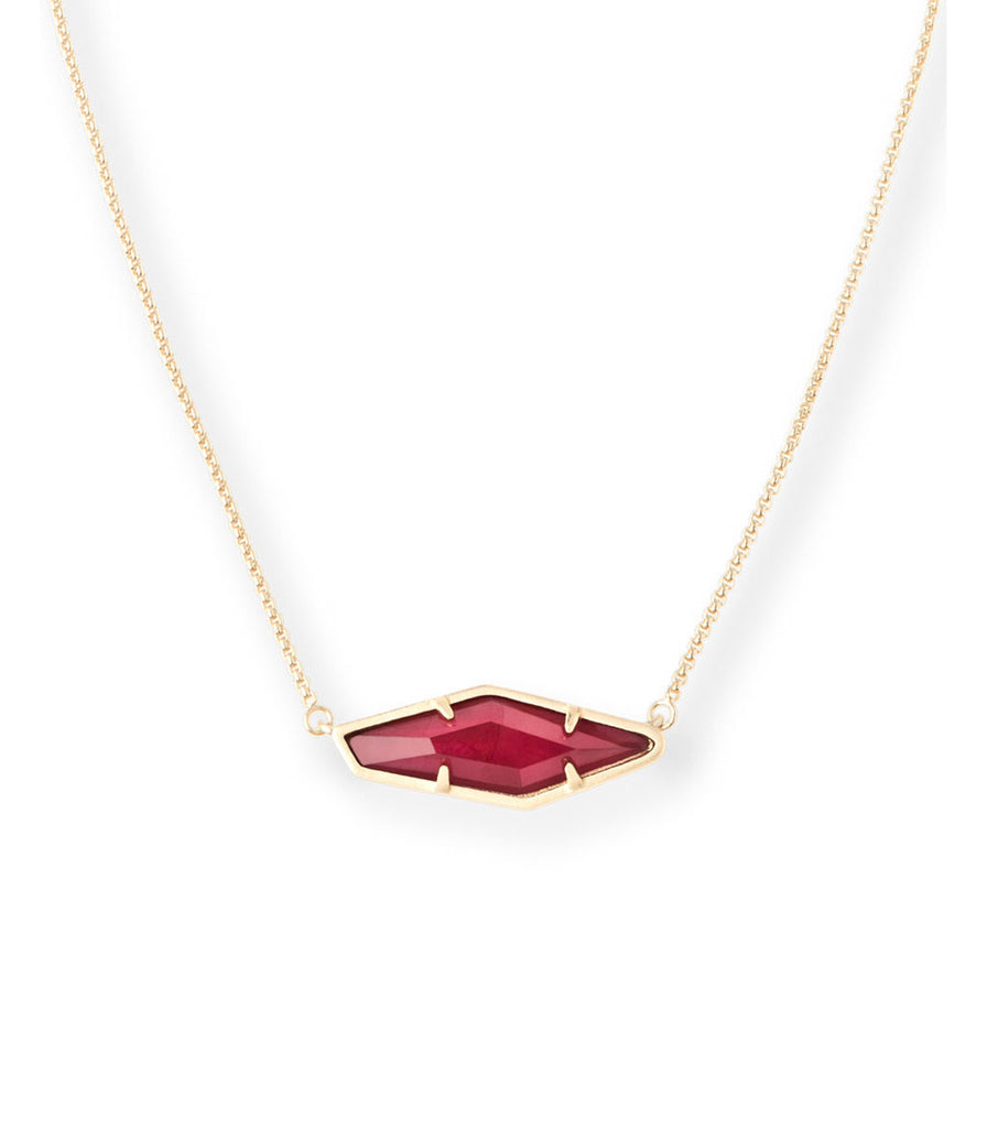 Kendra Scott Beth Pendant Necklace In Burgundy Illusion