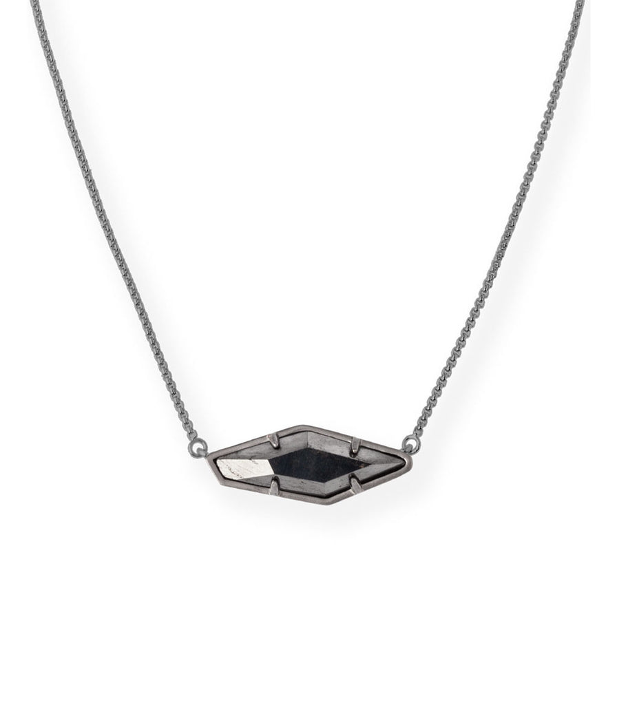 Kendra Scott Beth Pendant Necklace In Hematite