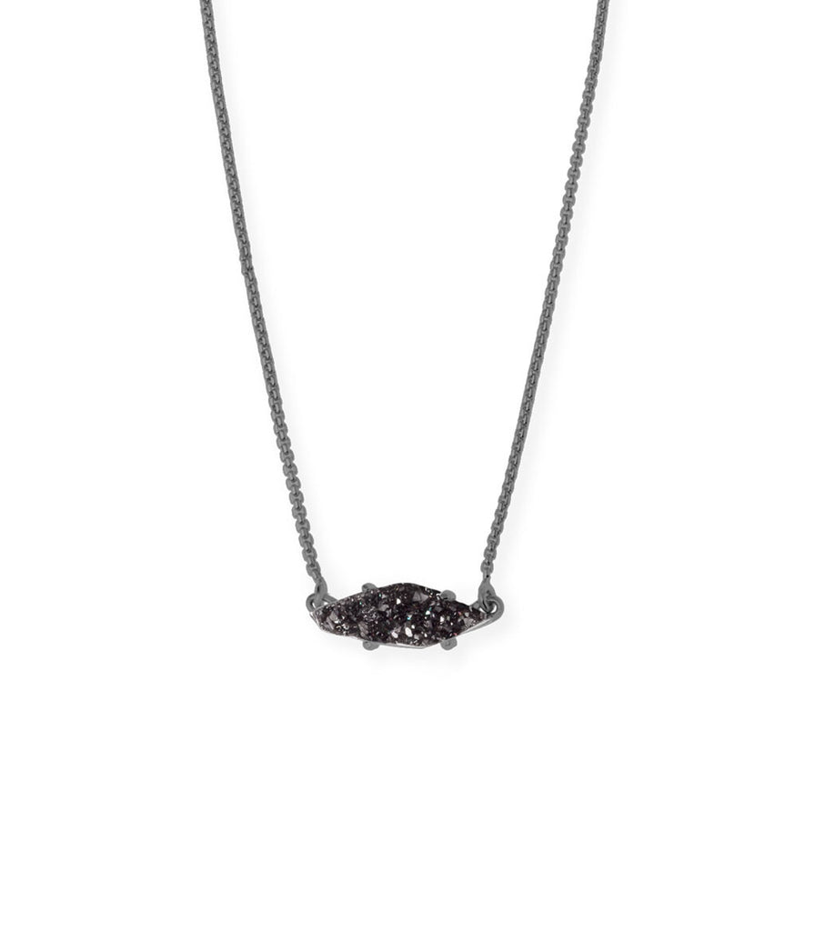 Kendra Scott Bridgete Pendant Necklace In Black Drusy