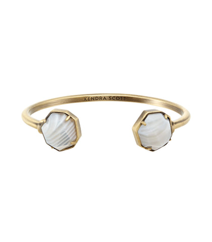 Kendra Scott Brinkley Bracelet In White Banded Agate