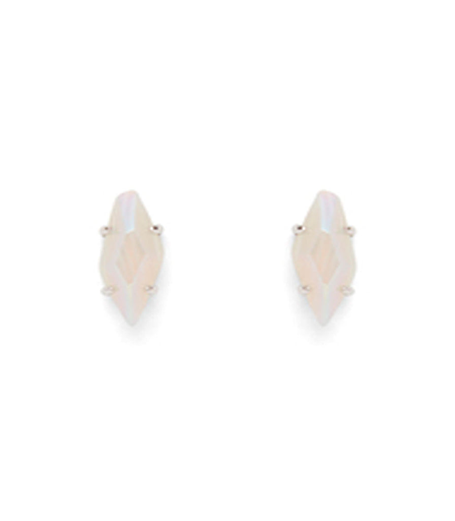 Kendra Scott Brook Stud Earring In Iridescent White Agate
