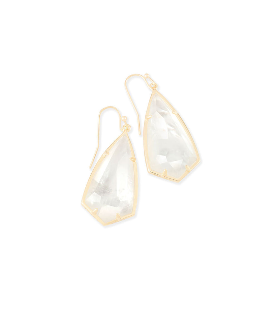 Kendra Scott Carla Earrings In Ivory Pearl