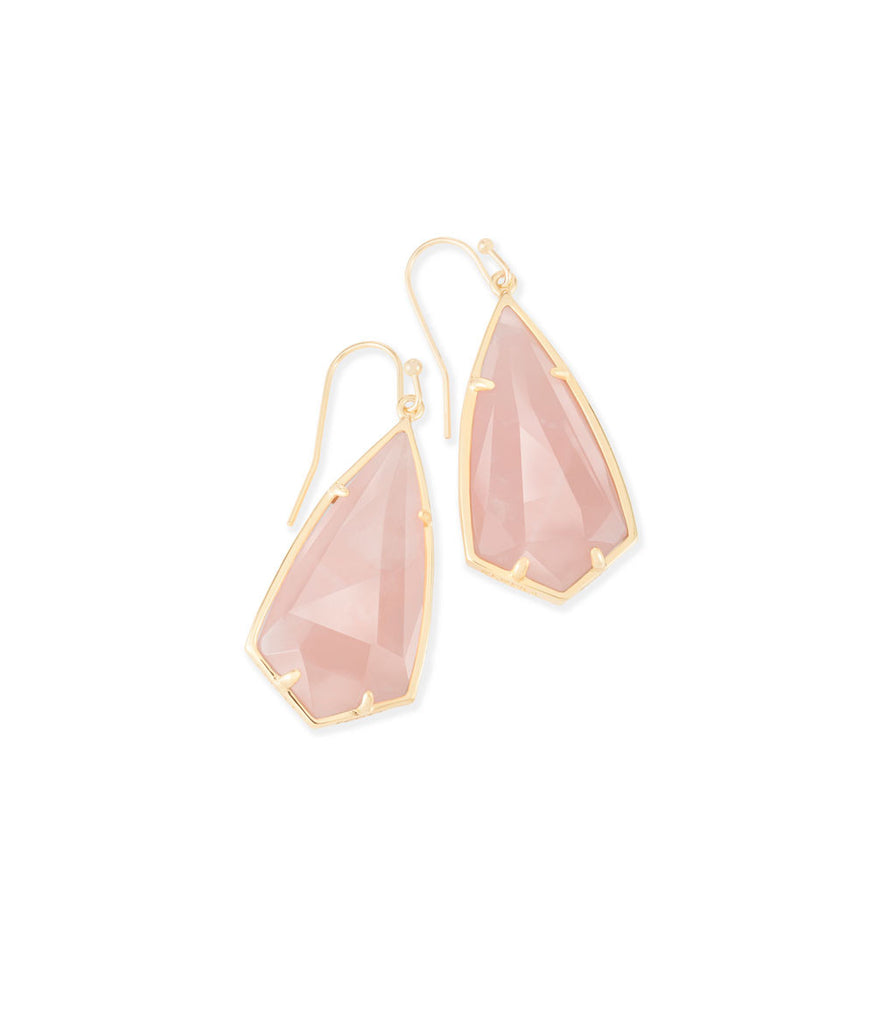 Kendra Scott Carla Earrings In Rose Quartz