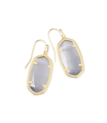 Kendra Scott Dani Earring Gold Slate Cats Eye