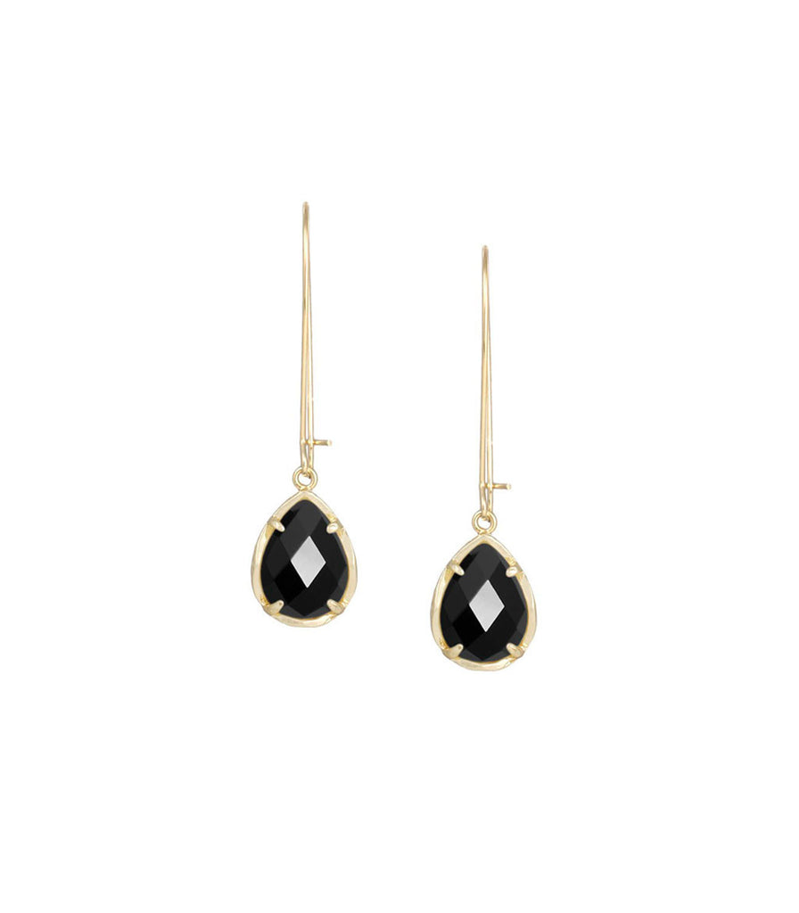 Kendra Scott Dee Black Opaque Glass Earrings Silver