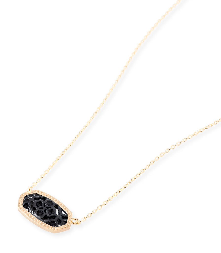 Kendra Scott Elisa Pendant Necklace In Gunmetal Filigree