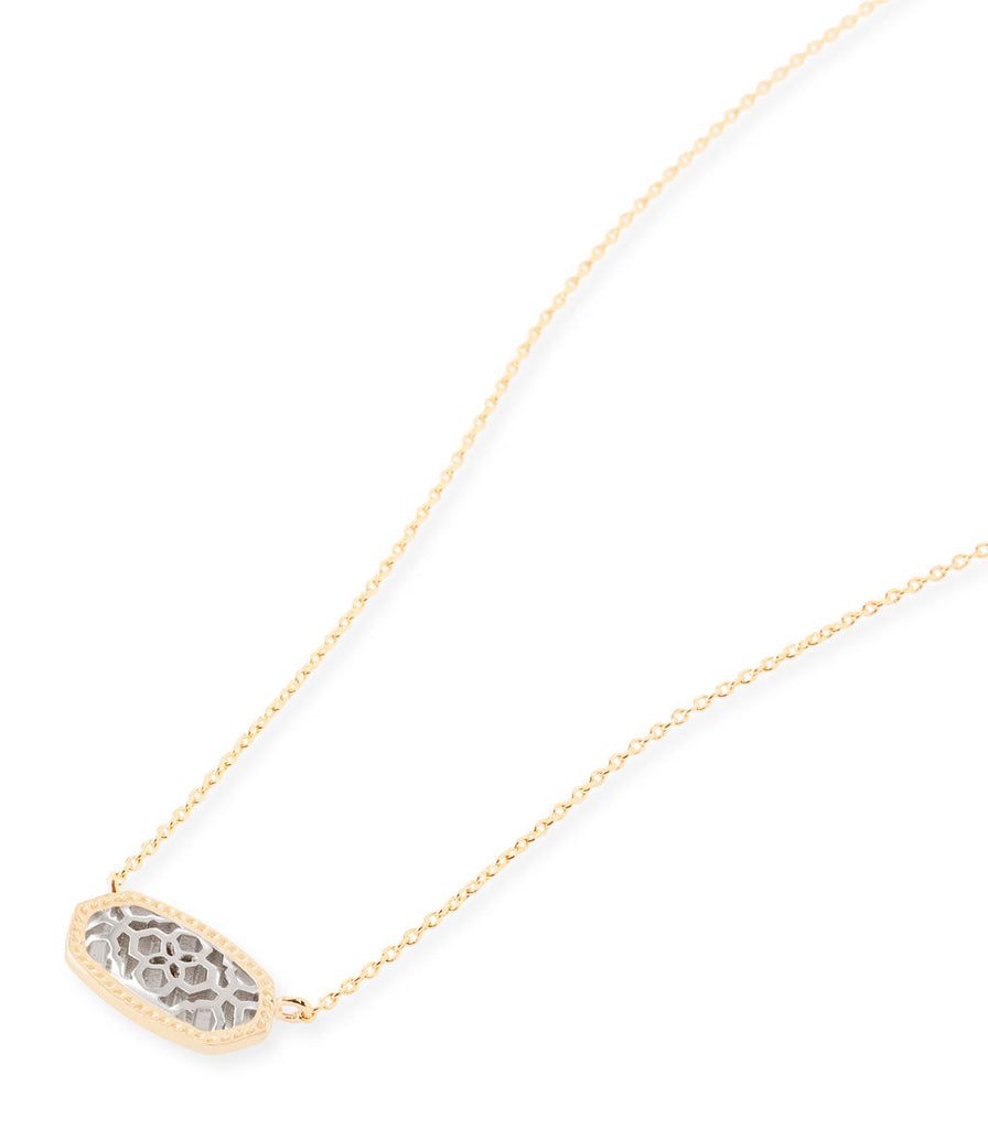 Kendra Scott Elisa Pendant Necklace In Silver Filigree