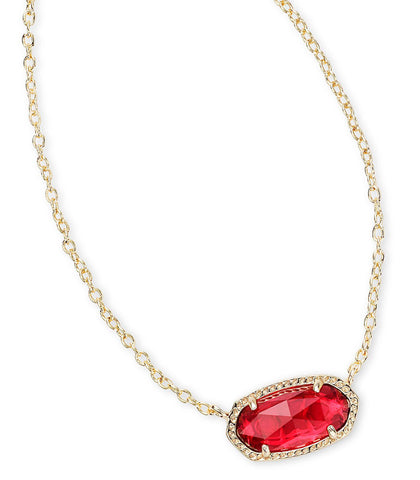 Kendra Scott Elisa Pendant Necklace In Berry
