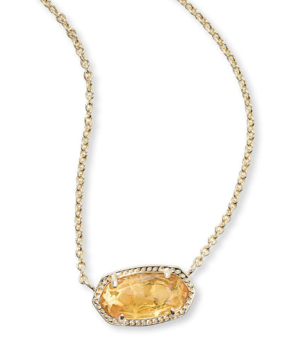 Kendra Scott Elisa Pendant Necklace In Citrine