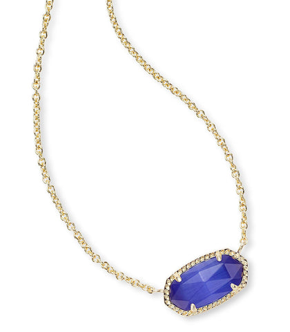 Kendra Scott Elisa Pendant Necklace In Cobalt Cat's Eye