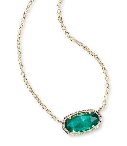 Kendra Scott Elisa Pendant Necklace In Emerald Cat's Eye