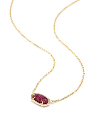 Kendra Scott Elisa Pendant Necklace In Fuchsia Drusy