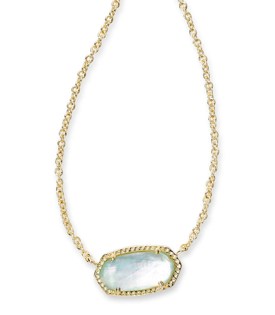 Kendra Scott Elisa Pendant Necklace In Light Blue Illusion
