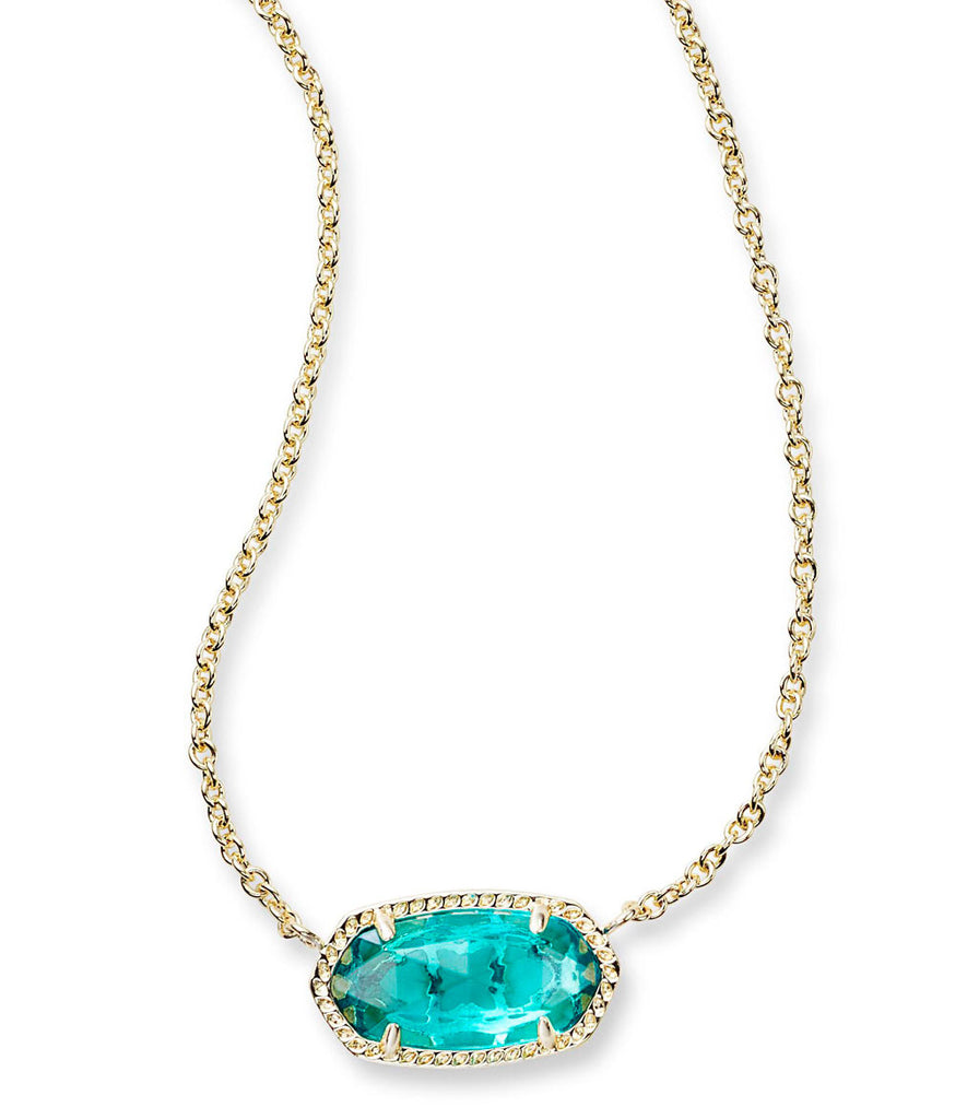 Kendra Scott Elisa Pendant Necklace In London Blue