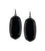 Kendra Scott Elle Gunmetal Earrings In Black