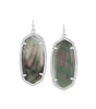 Kendra Scott Elle Silver Earrings In Black Pearl