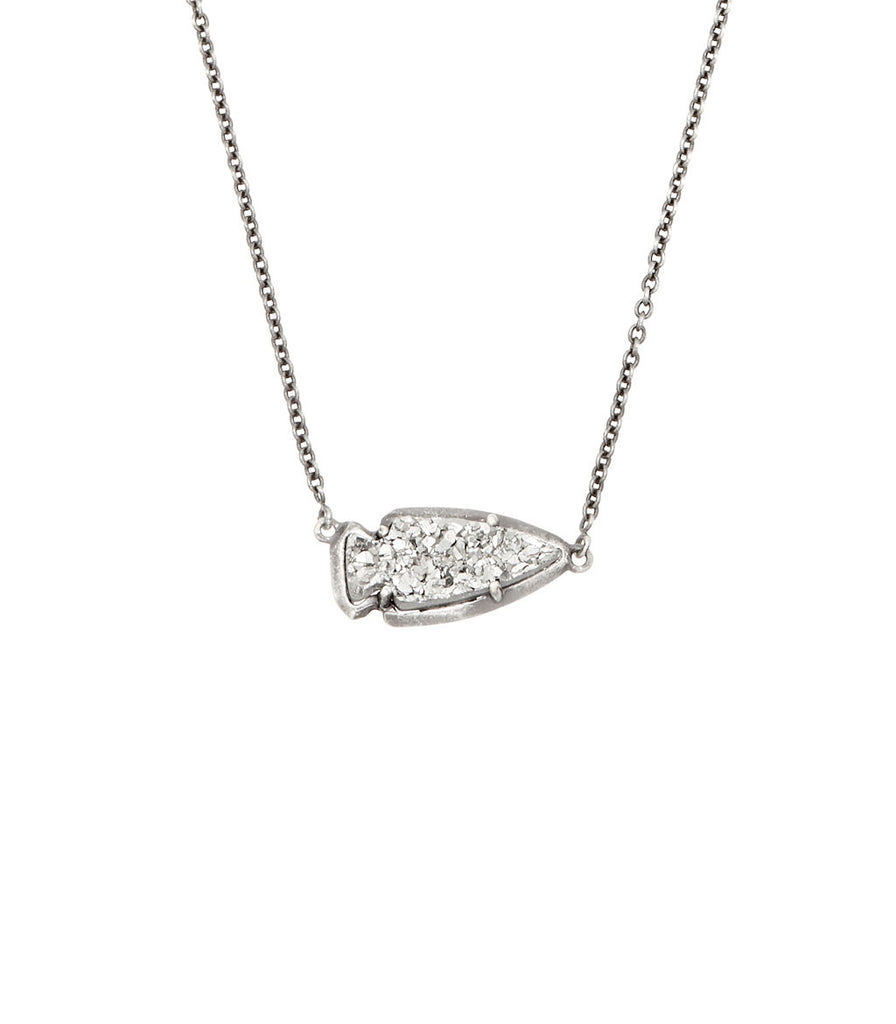 Kendra Scott Kasey Pendant Necklace In Platinum Drusy