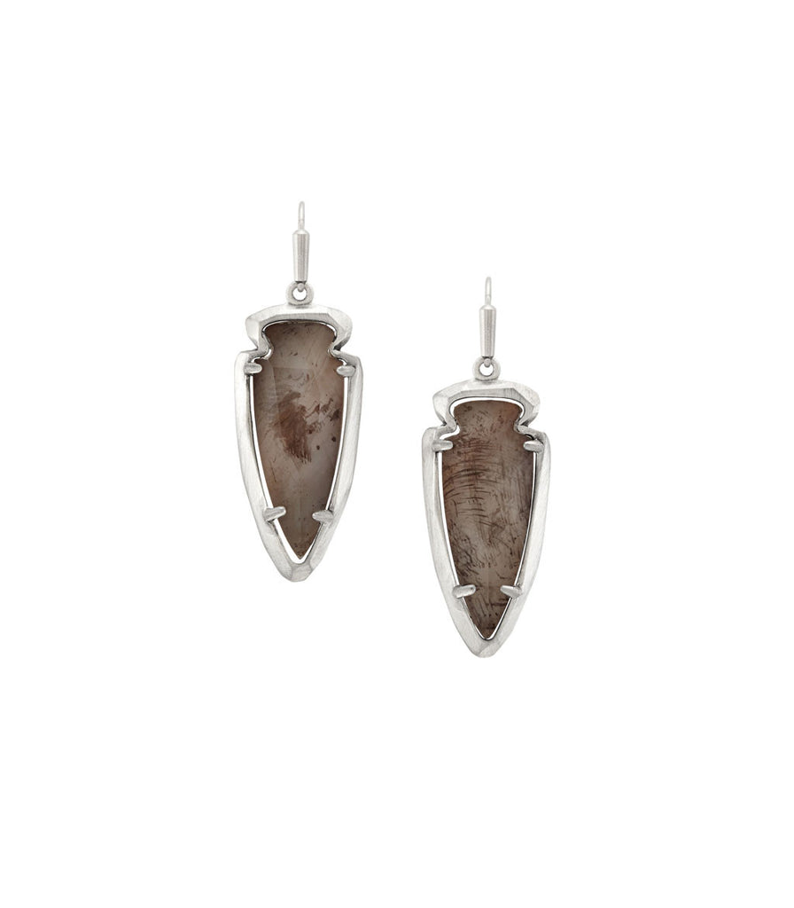 Kendra Scott Katelyn Earrings In Gray Pearl