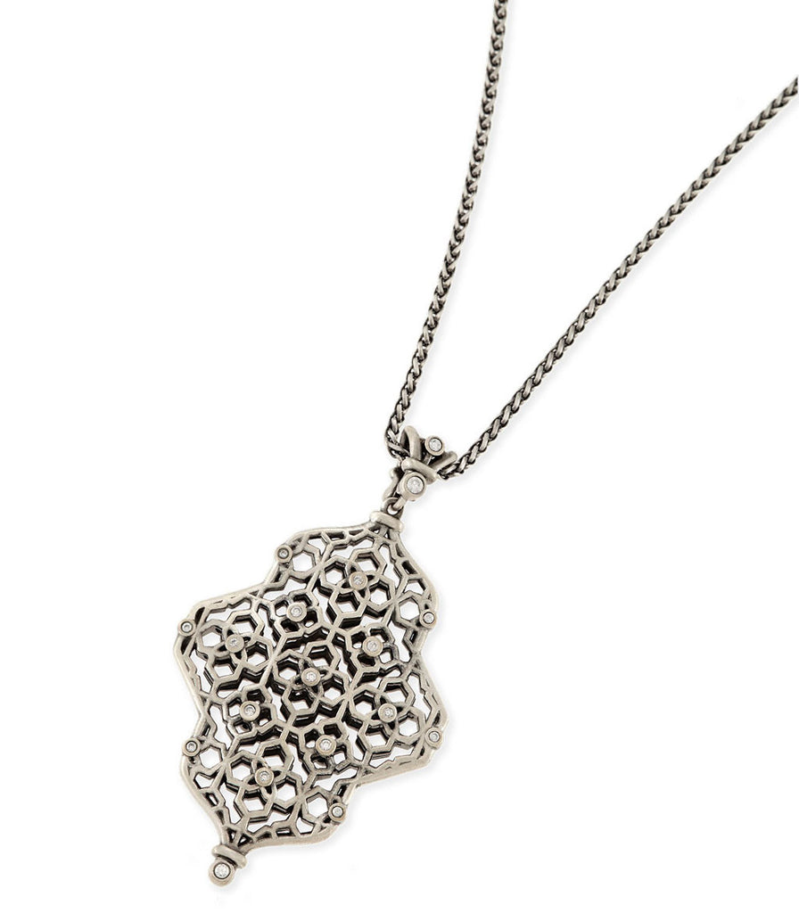 Kendra Scott Kathy Long Necklace In Antique Silver