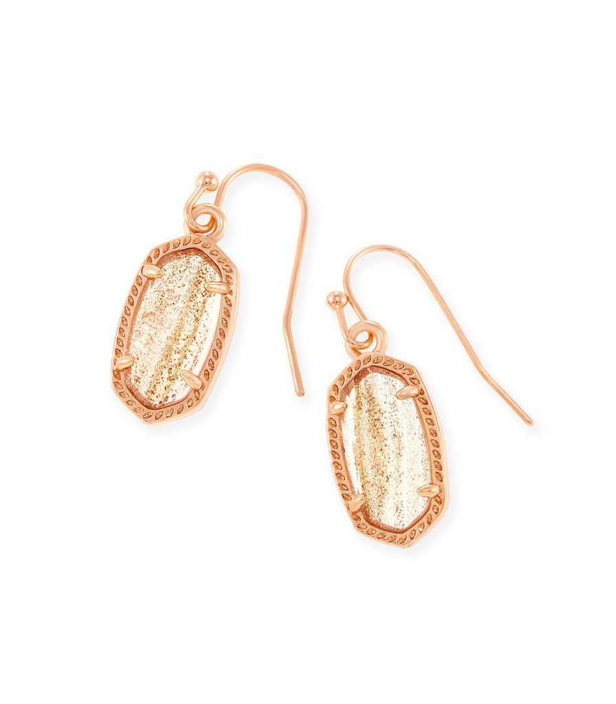 Kendra Scott Lee Drop Earrings In Gold Dusted Glass